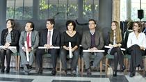 Los galardonados, durante el acto de entrega de los Premios Andalucía de Periodismo