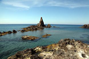 Arrecife de las Sirenas, en Cabo de Gata (Almería).