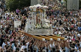 Romería de la Virgen de la Cabeza. (Foto EFE)