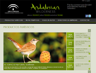 Plataforma web Andalusian Wilderness.