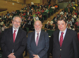 Luis Planas, junto a Francisco Fonseca y Pedro Molina.