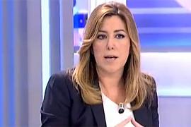 Susana Díaz, durante su entrevista en 'El Programa de Ana Rosa'.