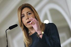 La presidenta durante su intervención. (Foto: EFE)