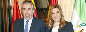 Susana Díaz apuesta en Zaragoza por la política local para recuperar la credibilidad de las instituciones ante los ciudadanos