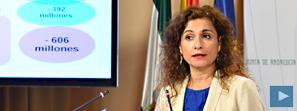 Montero denuncia que el Gobierno central reducirá en 600 millones las transferencias a Andalucía en 2015