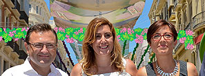 La presidenta de la Junta visita la Feria de Málaga