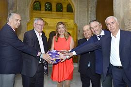 La presidenta andaluza, en Granada durante los actos de celebración con motivo del Mundial de Baloncesto.