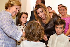 Susana Díaz, durante la inauguración del nuevo centro escolar.