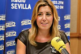 Un momento de la entrevista de Susana Díaz para la Cadena SER.