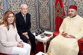 La presidenta junto al rey de Marruecos
