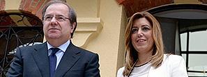 Susana Díaz y Juan Vicente Herrera analizan temas de interés para Andalucía y Castilla y León