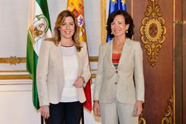 Susana Díaz y Ana Patricia Botín, en San Telmo.