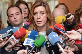 Díaz valoró el crecimiento de la población activa y el empleo en Andalucía.