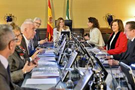 La reunión del Consejo de Gobierno de la Junta de Andalucía, celebrada en San Telmo.