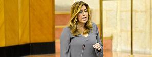 La presidenta de la Junta anuncia que Andalucía devolverá el cien por cien del tramo autonómico del impuesto sobre hidrocarburos