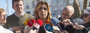 Susana Díaz aboga por la responsabilidad social y el compromiso de las entidades financieras para encontrar una solución para Abengoa