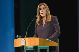 La presidenta, durante su intervención.