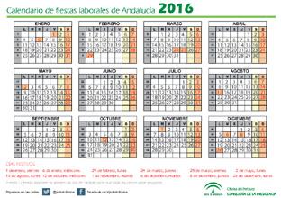 Aprobado el calendario de fiestas laborales en Andalucía para 2016 ...