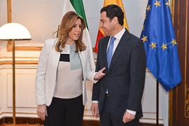 Susana Díaz y Juan Manuel Moreno Bonilla, del PP-A.