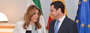 Susana Díaz traslada a los grupos políticos sus prioridades en empleo, transparencia, Estado del bienestar y financiación