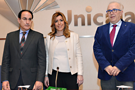 Díaz inauguró la jornada sobre innovación en Andalucía.