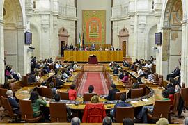 Un momento de la sesión constitutiva del Parlamento andaluz en su X Legislatura.