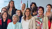 Susana Díaz, durante el Consejo Andaluz de Participación de las Mujeres.