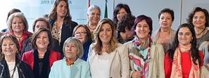 Susana Díaz destaca que Andalucía impulsará un gran pacto contra la violencia de género y lo trasladará a toda España