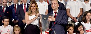 Díaz felicita al Sevilla Fútbol Club por