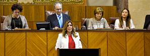 Susana Díaz propone un programa de Gobierno con 135 medidas para empleo, transparencia y derechos sociales