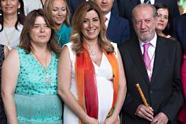 La presidenta, Susana Díaz, tras la constitución de la Diputación.