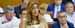 Susana Díaz adelanta que Andalucía bajará en julio del millón de parados tras liderar la creación de empleo en el último trimestre