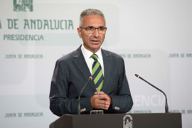 El portavoz del Gobierno informó del desarrollo del proyecto de ley aprobado por el Ejecutivo andaluz.
