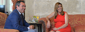 La presidenta de la Junta y el alcalde de Sevilla acuerdan colaborar en vivienda, empleo y servicios sociales