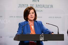 La consejera de Igualdad y Políticas Sociales, María José Sánchez Rubio, informó del nuevo Plan Andaluz de Cooperación para el Desarrollo.