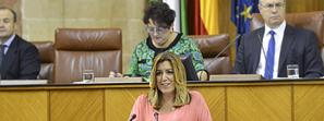 Susana Díaz avanza que el Presupuesto andaluz para 2017 crecerá en Salud, en Educación y en Igualdad