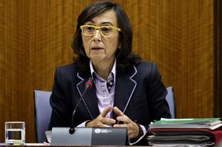 Rosa Aguilar, en comisión parlamentaria.