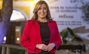 La presidenta de la Junta, en Doñana, durante su mensaje de Fin de Año.