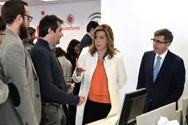 Díaz asistió a la presentación del proyecto para empresas de base tecnológica.