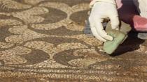 Limpieza superficial del mosaico a base de agua