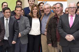Díaz asistió a la presentación en Jaén de la nueva versión de la plataforma de tramitación electrónica de gestión municipal.