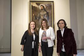 Díaz visitó la exposición sobre Francisco Pacheco en el Museo de Bellas Artes de Sevilla.