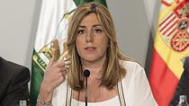 Intervención de Susana Díaz en la firma del convenio con las diputaciones para el PFEA 2016