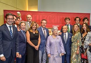 Susana Díaz asiste en Sevilla a un acto de homenaje al empresario hostelero Juan Robles