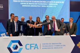 Díaz presidió la firma del protocolo en Puerto Real.