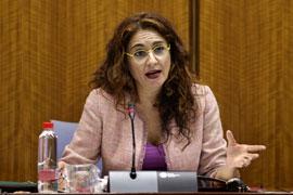 Montero, durante la comisión parlamentaria.
