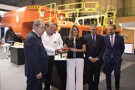 Díaz inauguró el Salón Internacional de la Minería Metálica.