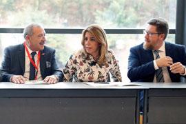 """Díaz señaló que la situación de Cataluña """"afecta a todos"""". (Foto EFE)"""