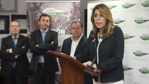 Intervención de Díaz en su visita a las instalaciones de Agro Sevilla Aceitunas