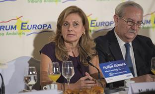 Marina Álvarez, durante su intervención.